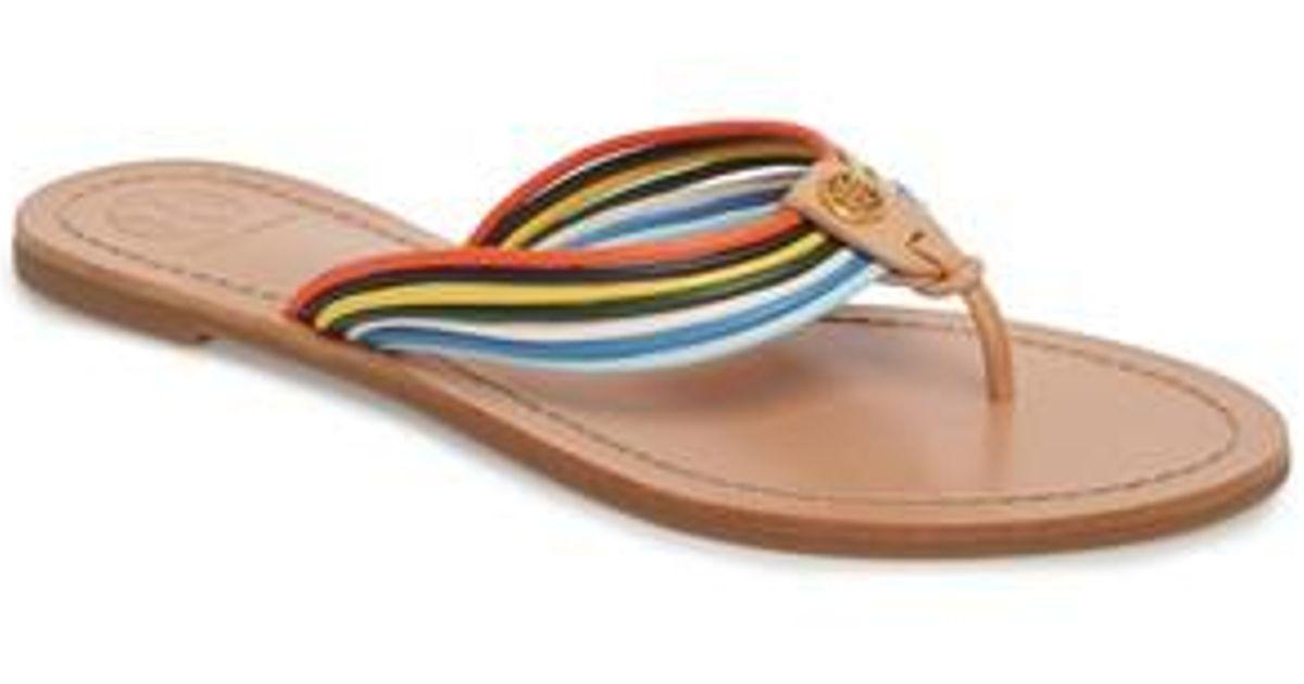 bae30621b80 Lyst - Tory Burch Sienna Strappy Thong Sandal