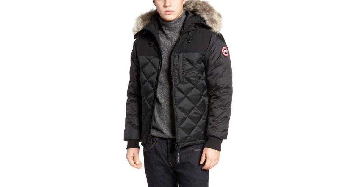 Lyst - Canada Goose Pritchard Genuine Coyote Fur Trim Goose Down Parka in Black for Men