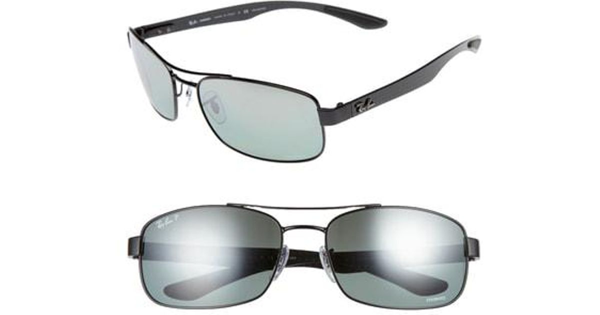 90f872ee2bf Lyst - Ray-Ban Chromance 62mm Polarized Sunglasses - for Men