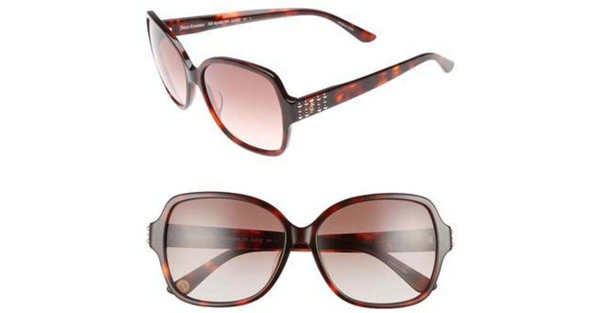 2fbc8850b6b9 Lyst - Juicy Couture Shades Of 57mm Square Sunglasses - Dark Havana in Brown