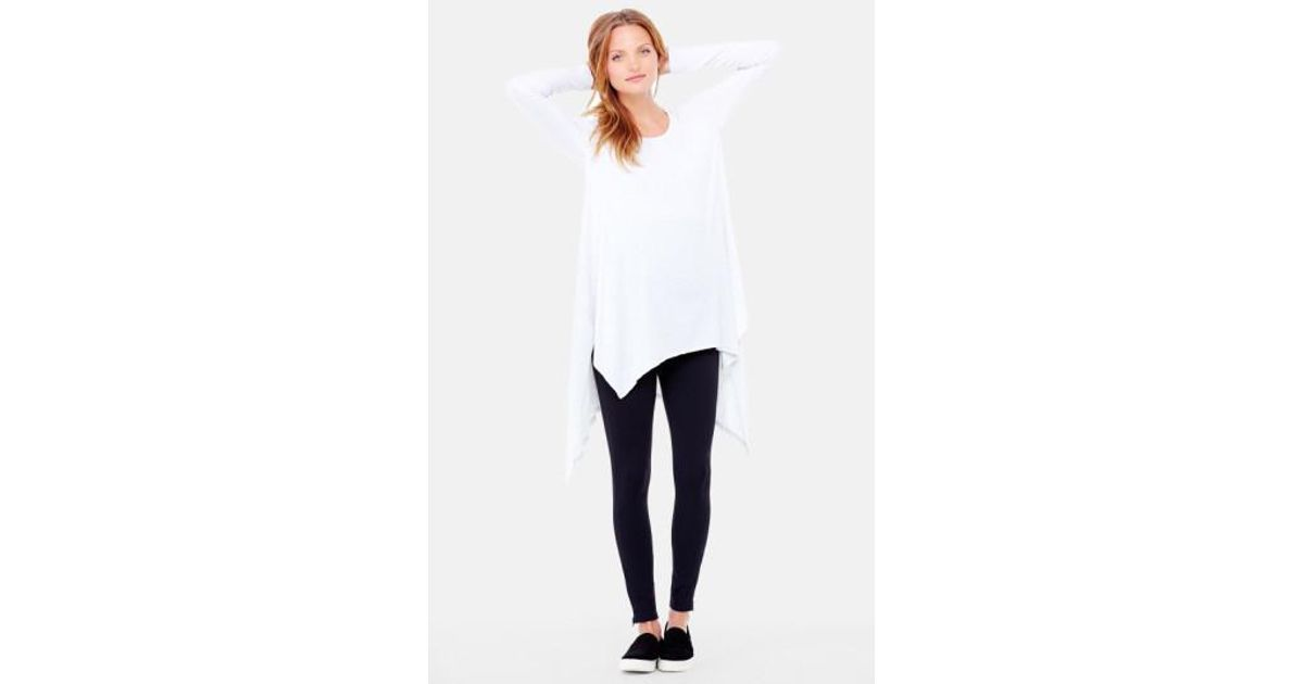 1ed6790800858 Lyst - Ingrid & Isabel Handkerchief Maternity Tunic Top in White
