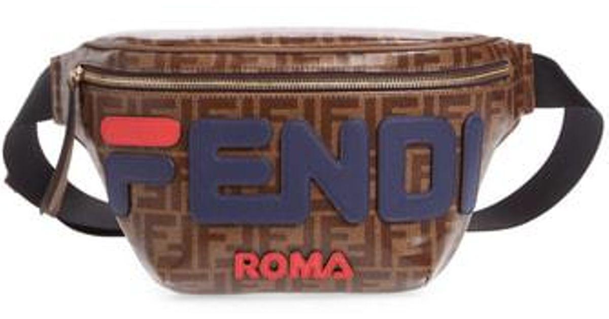 581201590f Lyst - Fendi X Fila Mania Logo Belt Bag