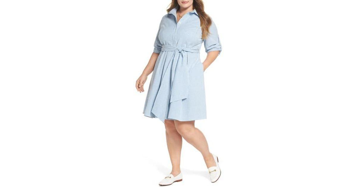 a99cb2996ab Lyst - Nordstrom 1901 Seersucker Shirtdress in Blue