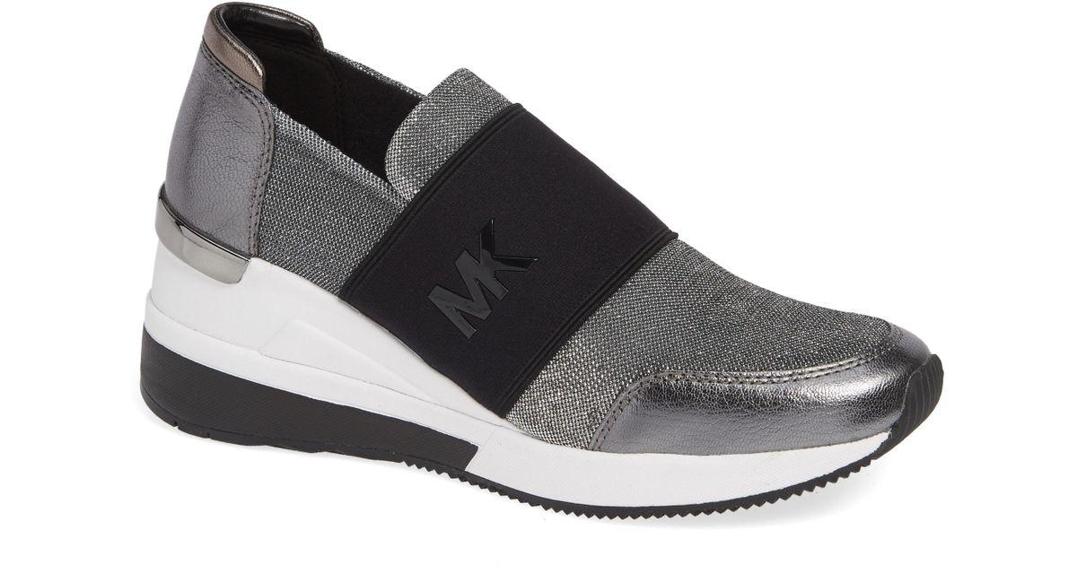 f89efbf3c5422 Lyst - MICHAEL Michael Kors Felix Slip-on Glitter Sneaker in Metallic