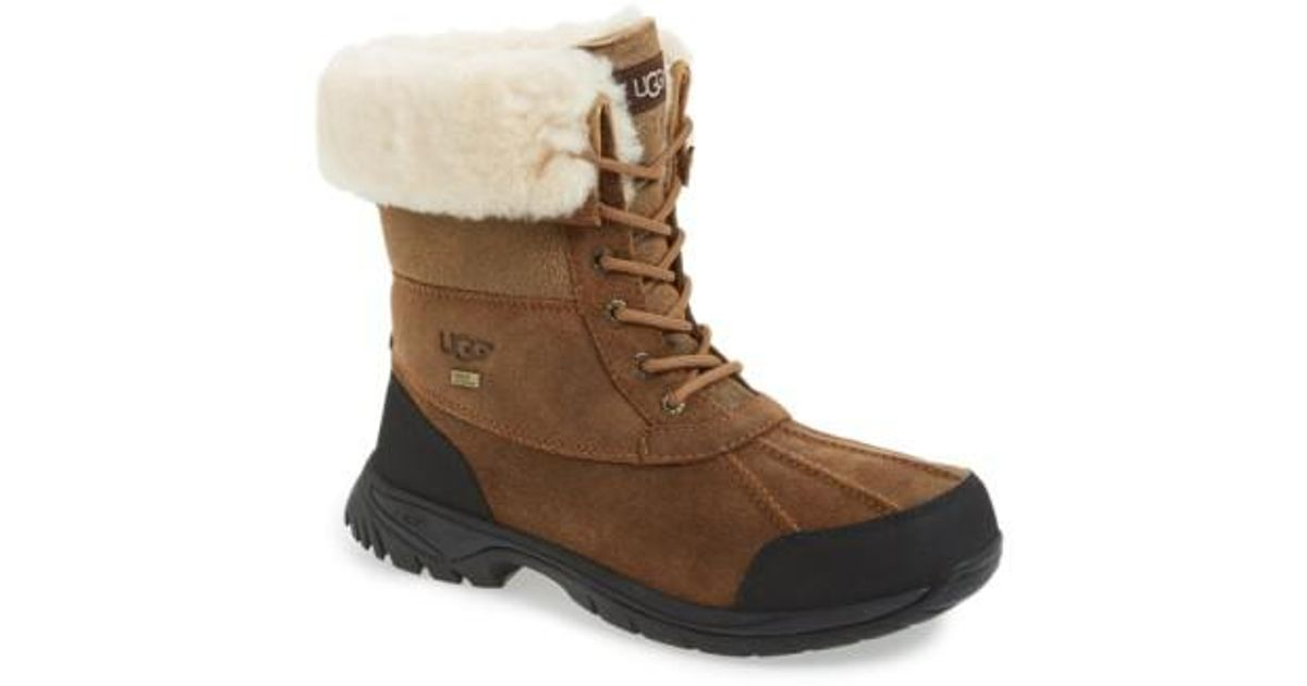 UGG Butte Bomber Leather and Suede Waterproof Boots LvNC4P8o