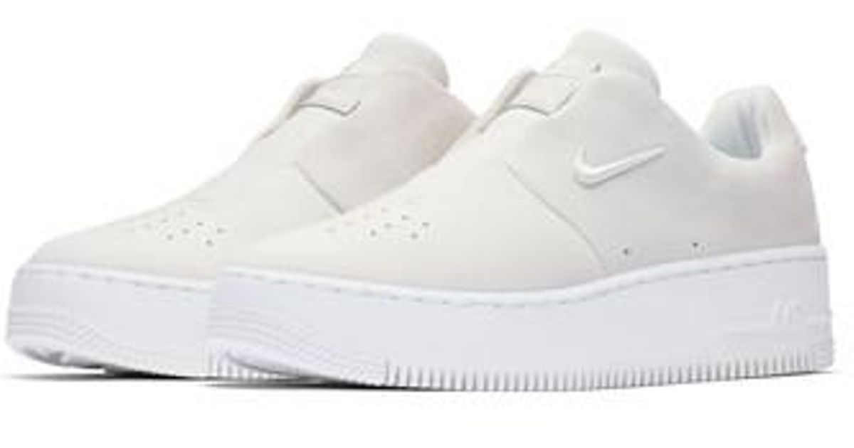 wholesale dealer f9963 bf26d Lyst - Nike Air Force 1 Sage Xx Sneaker in White
