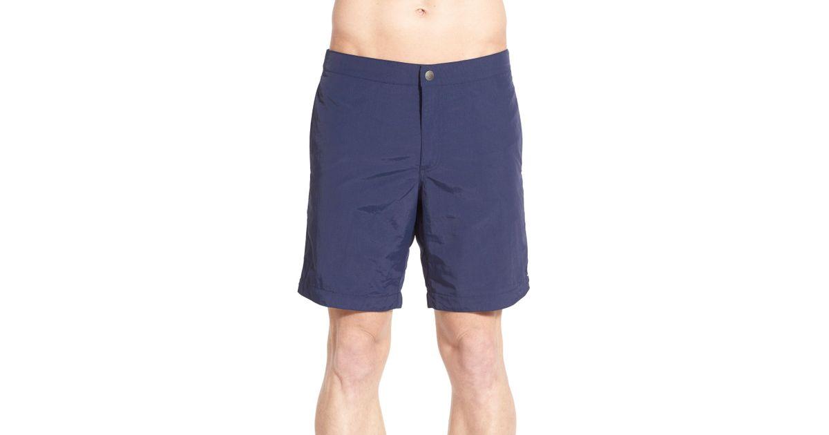 564bb5e15a Lyst - Boto Aruba Tailored Fit 8.5 Inch Swim Trunks in Blue for Men
