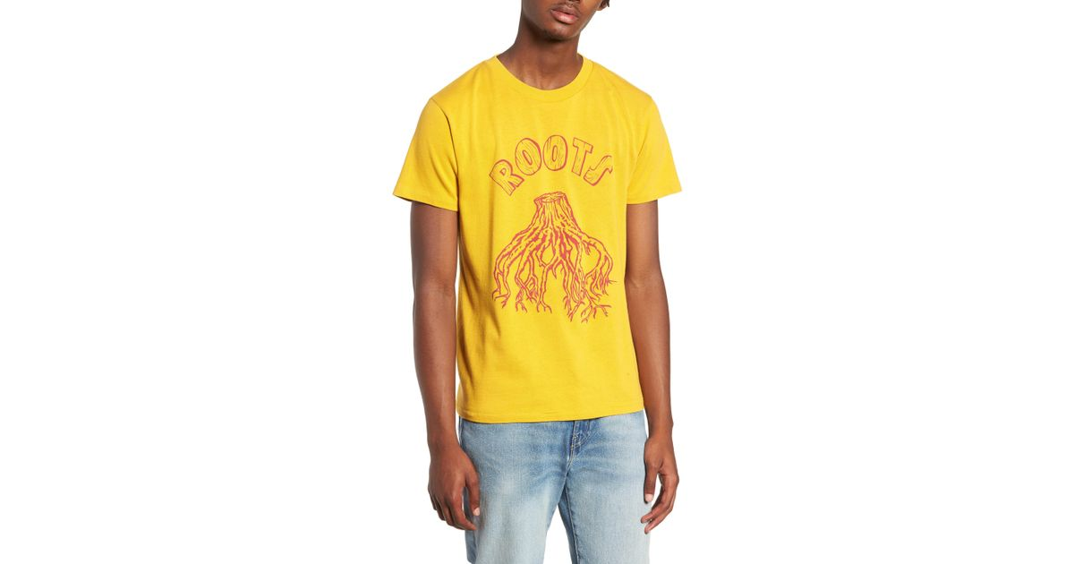 85aa180a Levi's Vintage Clothing Graphic Slim Fit T-shirt in Yellow for Men - Lyst