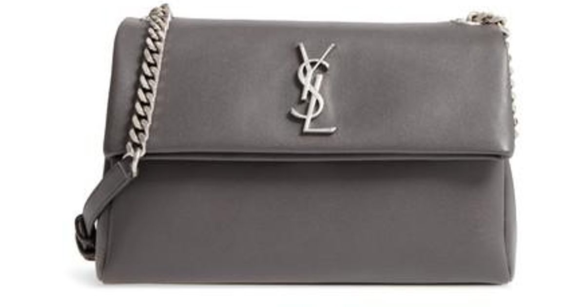 aecca92264af Lyst - Saint Laurent Medium West Hollywood Leather Shoulder Bag in Gray