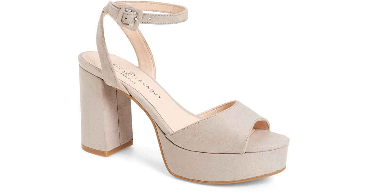 c07a17b28c8 Lyst - Chinese Laundry Theresa Platform Sandal in Gray
