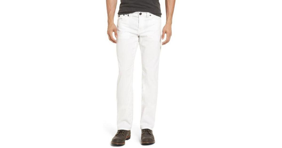 7d2877fcc Lyst - True Religion  ricky  Relaxed Straight Leg Corduroy Pants in White  for Men