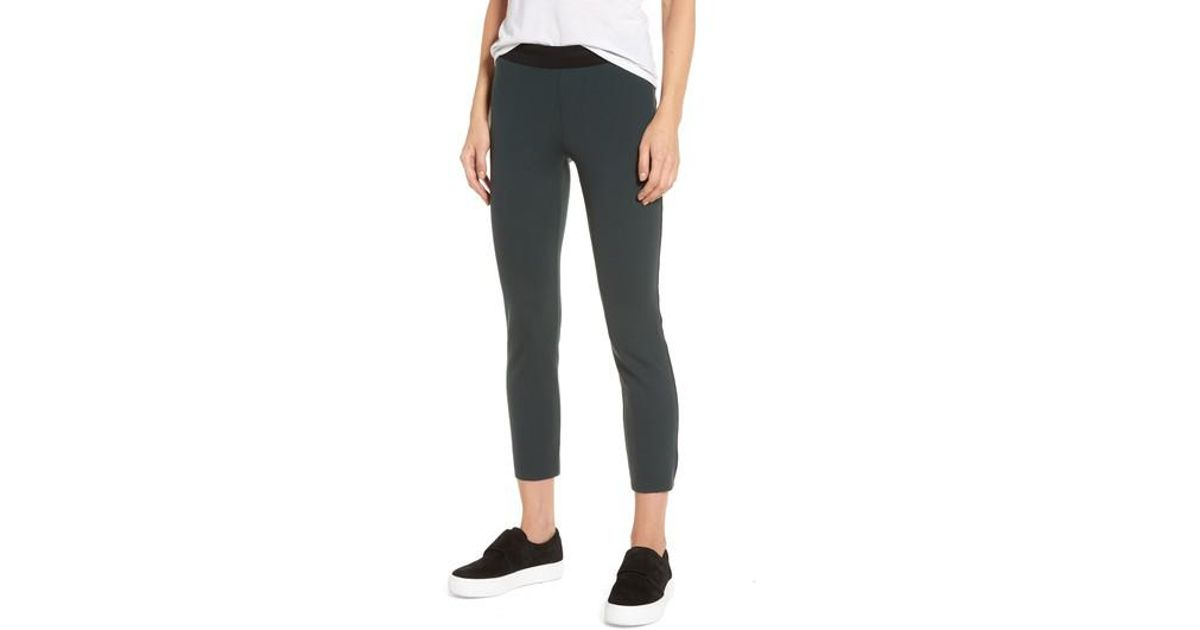 07e258c5c081f James Perse Crop Scuba Leggings in Black - Lyst