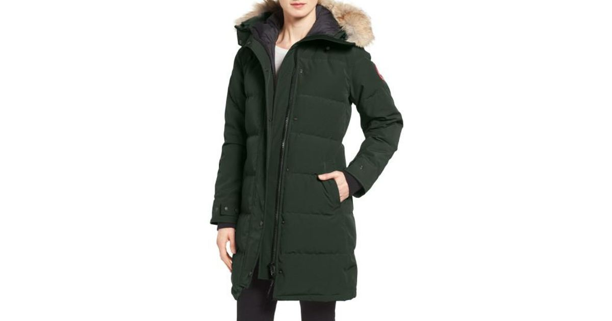 ccdf0a6cd6bd Canada Goose Shelburne Genuine Coyote Fur Trim Down Parka in Green - Save  5% - Lyst