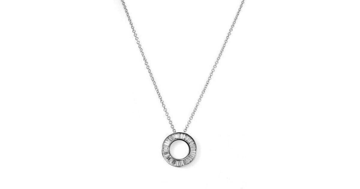Lyst bony levy circle of life small diamond pendant necklace lyst bony levy circle of life small diamond pendant necklace nordstrom exclusive in metallic aloadofball Image collections