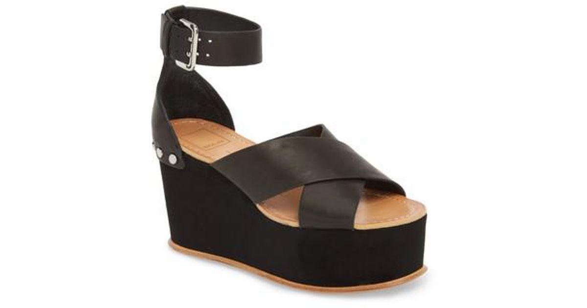 5b3c38e0d87 Lyst - Dolce Vita Dalrae Wedge Sandal in Black