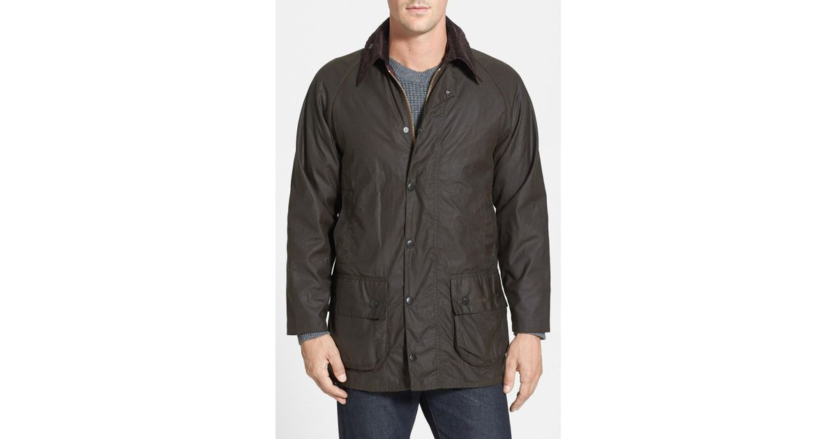 pick up sale uk on feet at Barbour - Gray 'classic Beaufort' Relaxed Fit Waxed Cotton Jacket for Men -  Lyst