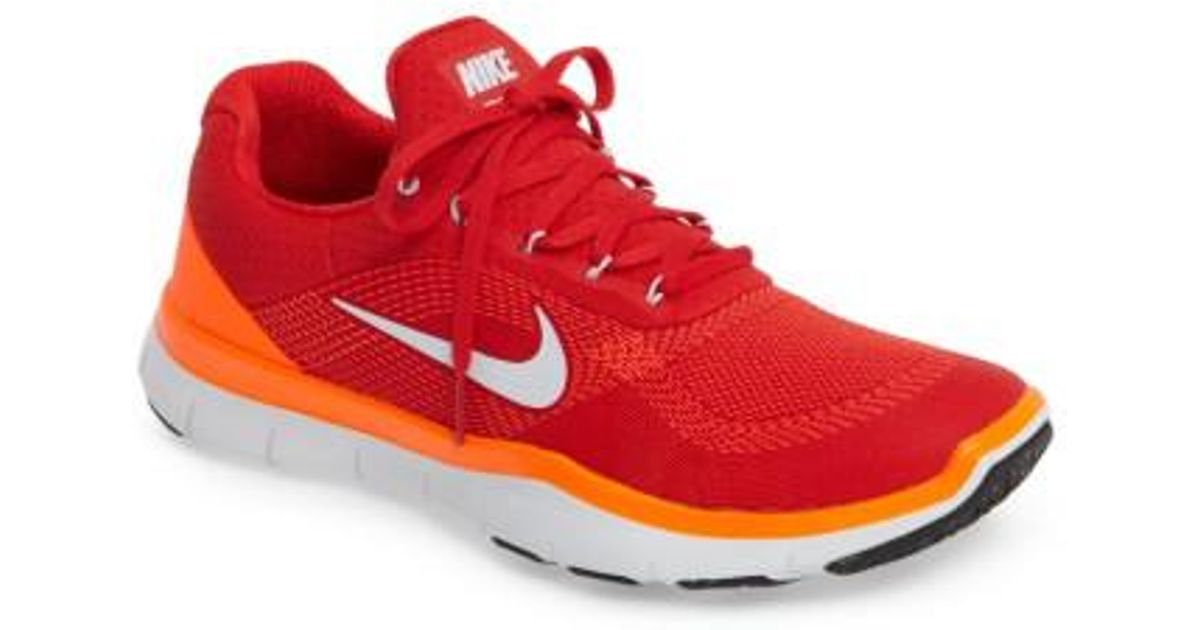 eeb7df612e5e ... switzerland lyst nike free trainer v7 training shoe in red for men  0deb7 52b30