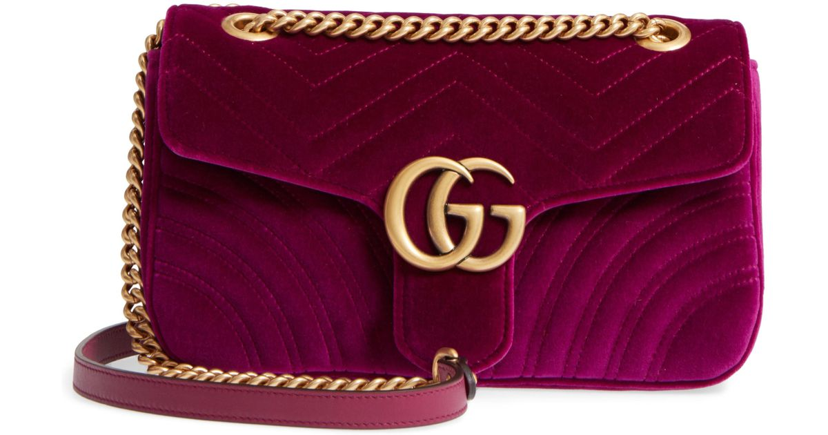efcd59b8b13e Gucci Medium Gg Marmont 2.0 Matelassé Velvet Shoulder Bag - - Save 5% - Lyst