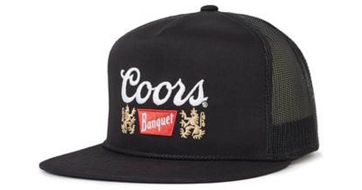 Lyst - Brixton Coors Banquet Primary Trucker Cap in Black for Men 7b1e0ff48d2