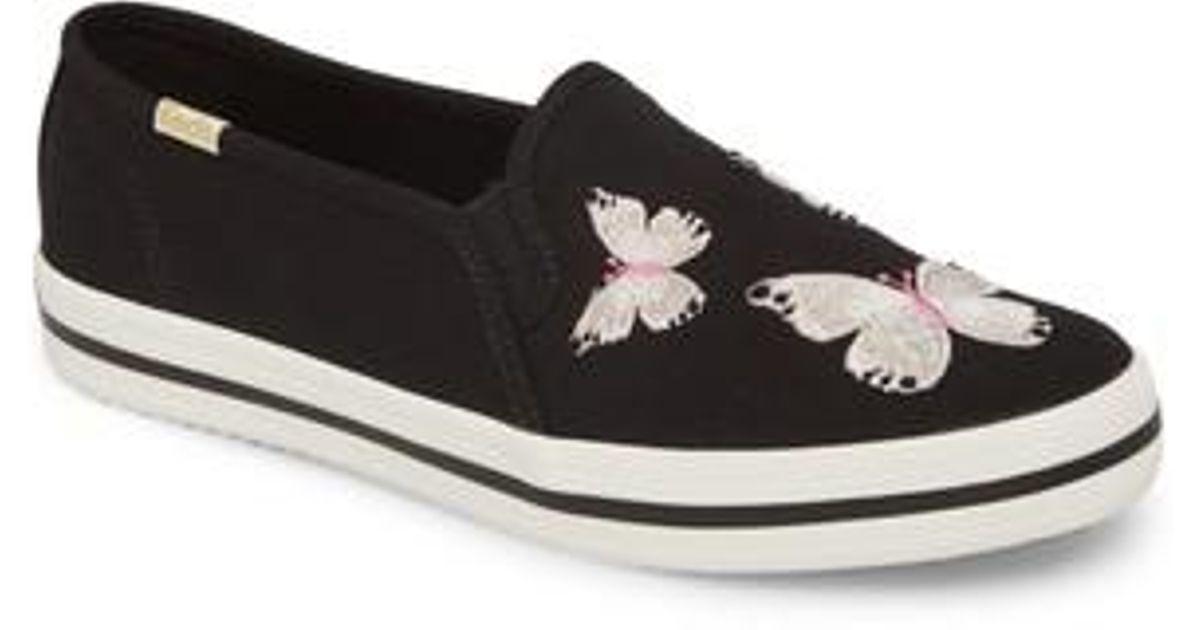 5a346d8e4a52 Lyst - Kate Spade Keds For Kate Spade New York Butterfly Double Decker  Slip-on Sneaker in Black