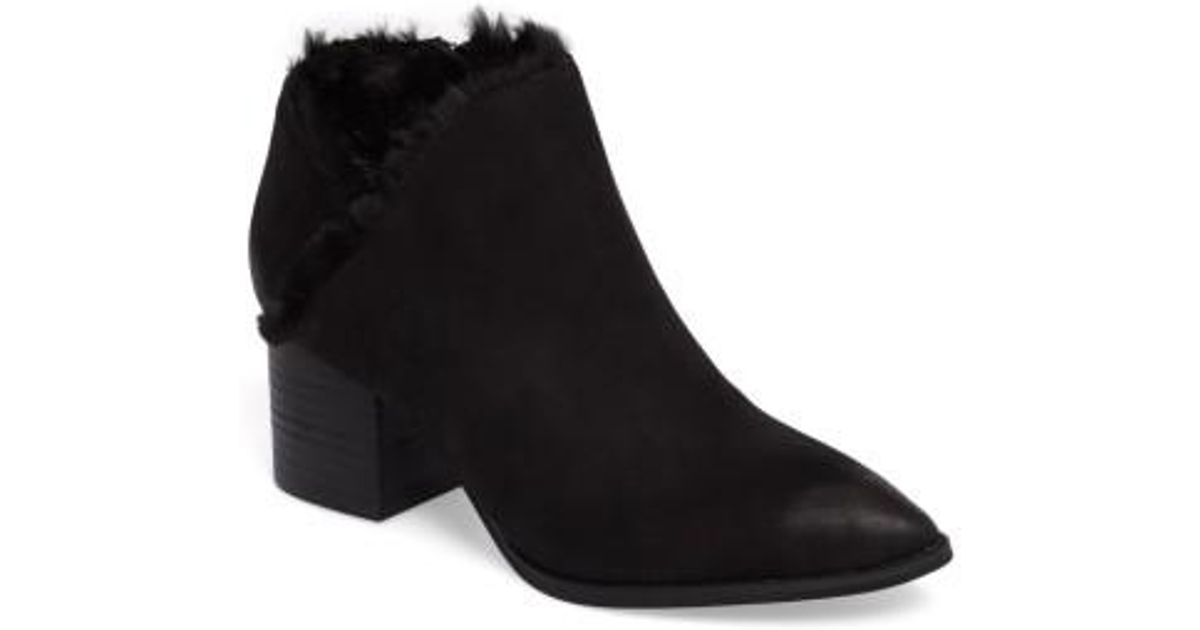 fcfcf453f2acb3 Lyst - Seychelles Preview Faux Fur Lined Bootie in Black
