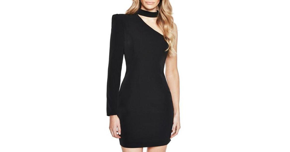 a334cfef5eb Bardot Willow One-shoulder Choker Dress in Black - Lyst