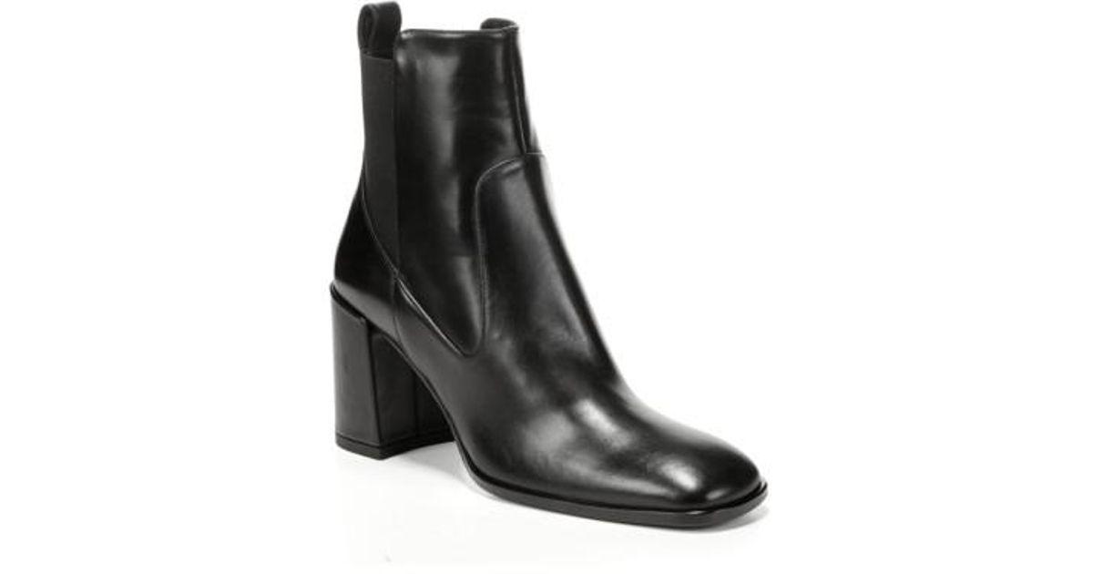 13bb7ac332bb Lyst - Via Spiga Delaney Block Heel Bootie in Black