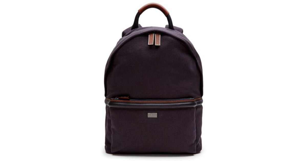 d8f6b70c44f20 Lyst - Ted Baker  brandor  Backpack in Blue for Men