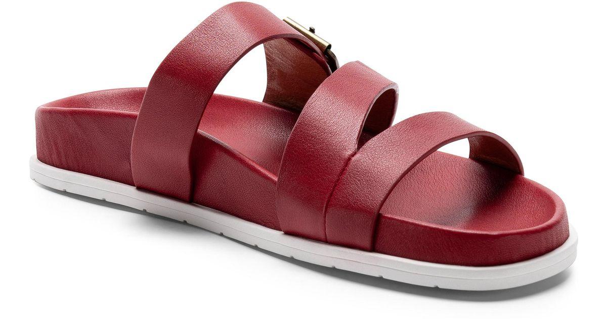 f6163a28b4bb Lyst - Blondo Selma Waterproof Slide Sandal in Red