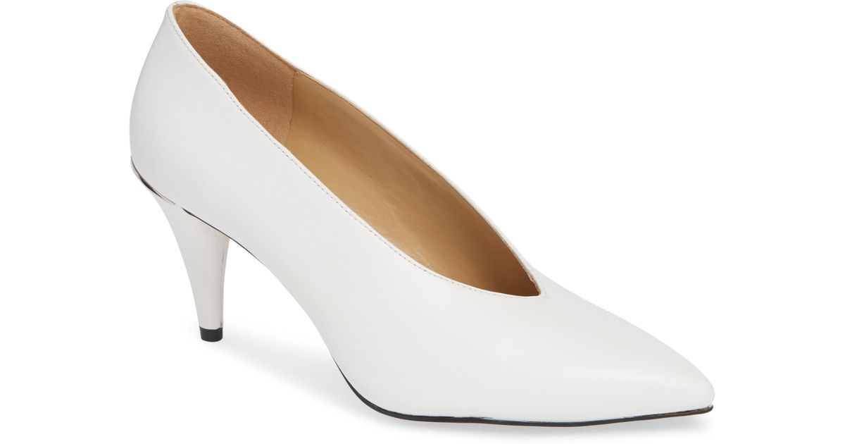 cce7490baa4 Lyst - MICHAEL Michael Kors Lizzy Pointed Toe Pump in White
