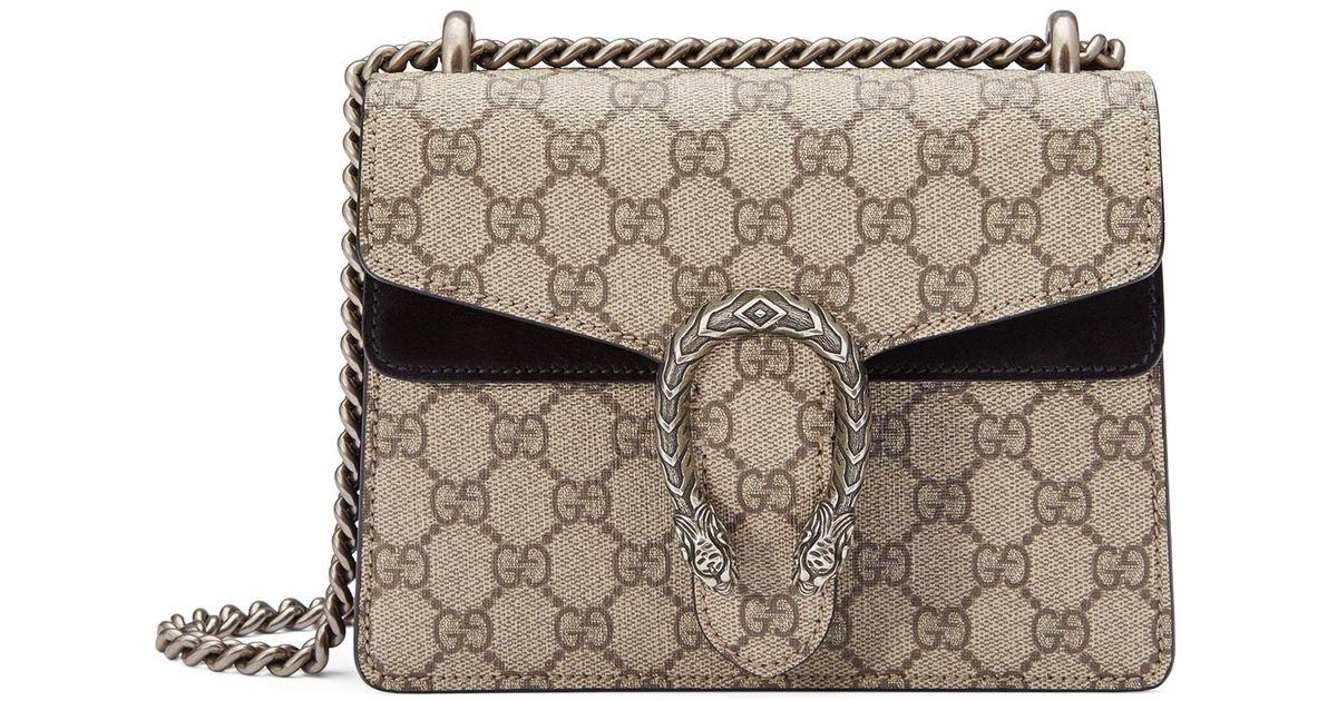ac499960d03 Lyst - Gucci Dionysus Mini GG Supreme Shoulder Bag