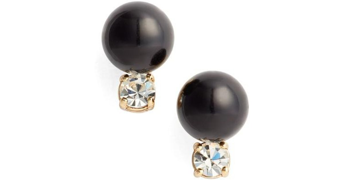 418222b7c Kate Spade In A Flash Stud Earrings in Black - Lyst