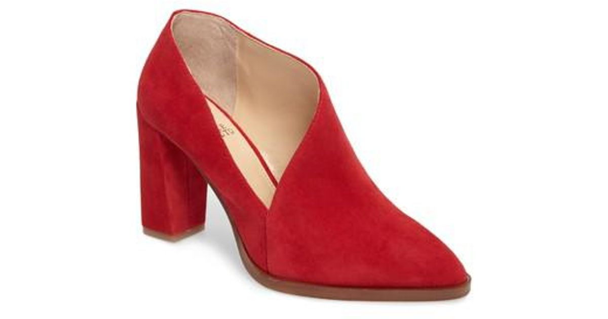 9c2e86870a0b Lyst - Vince Camuto Loretan Bootie in Red