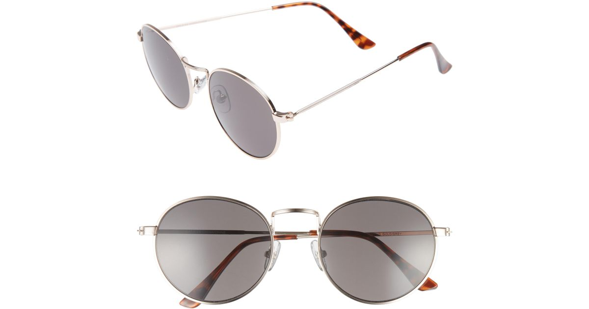 3edefaab9d6 Lyst - Nordstrom 1901 Lewis 54mm Round Sunglasses in Gray for Men
