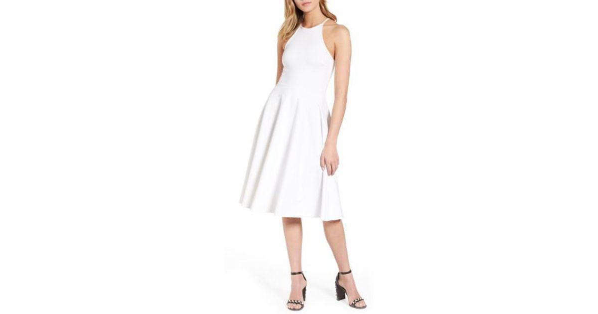 69dd0a799a4 Lyst - Soprano Knit Midi Dress in White