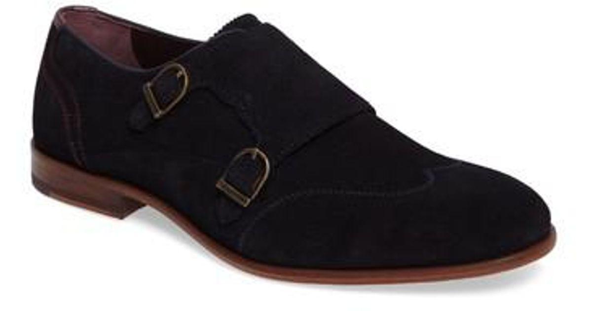39741898d1004 Lyst - Ted Baker Rovere Wingtip Monk Shoe in Blue for Men