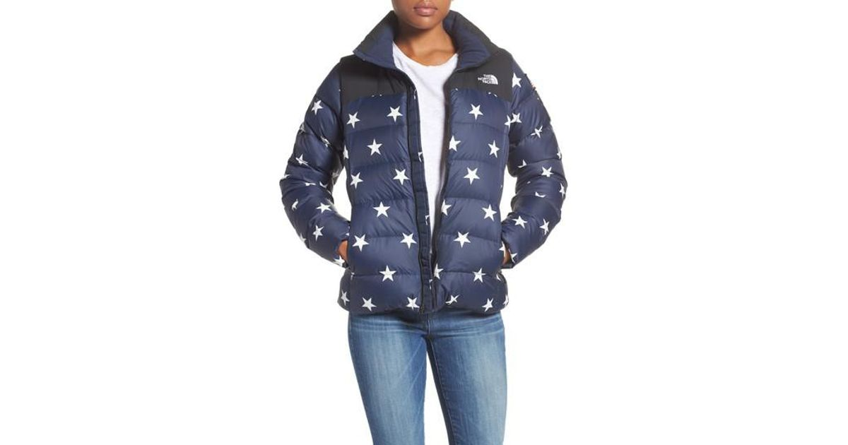 Lyst - The North Face International Collection Nuptse 700-fill Power Down  Puffer Jacket in Blue a9fdaa58d5ab