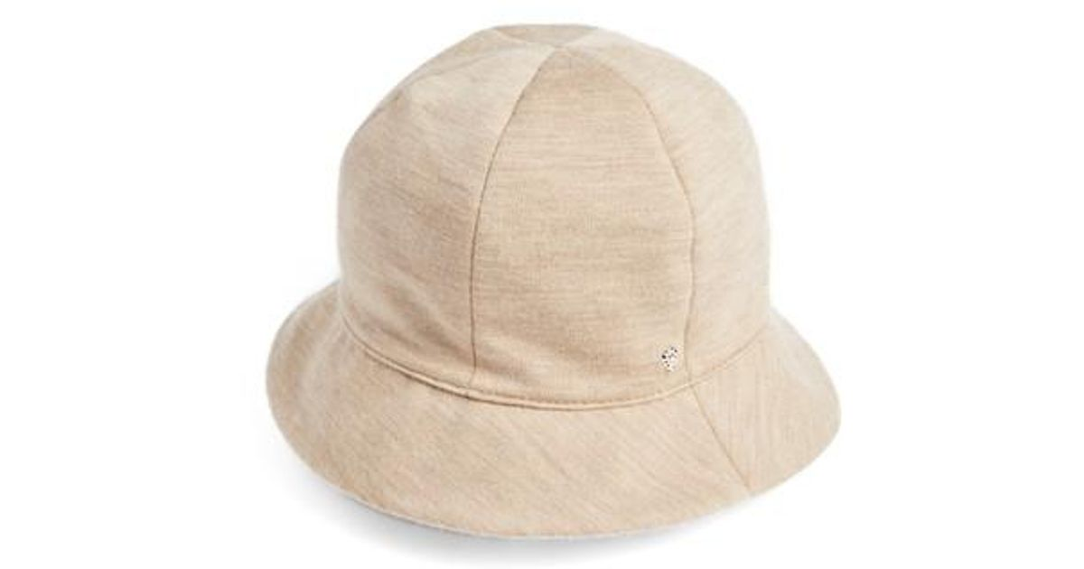 0f0e0810b6201 Lyst - Helen Kaminski Merino Wool Jersey Bucket Hat - in Natural