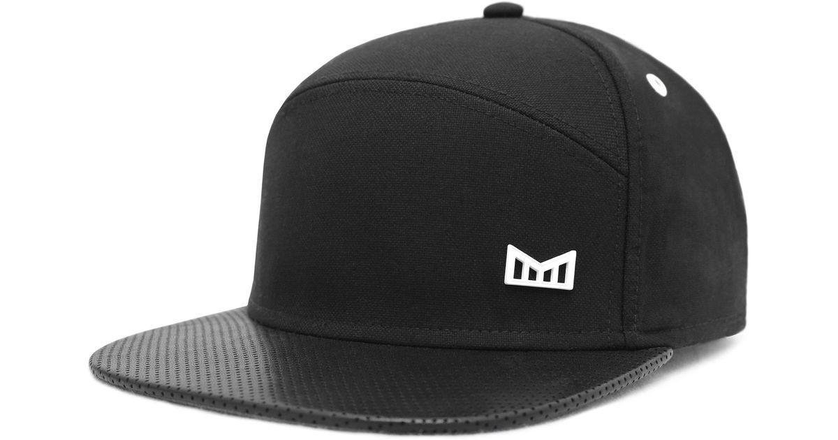 a8faf2957fe Lyst - Melin  the Vision  Horizon Fit Flat Brim Baseball Cap in Black for  Men