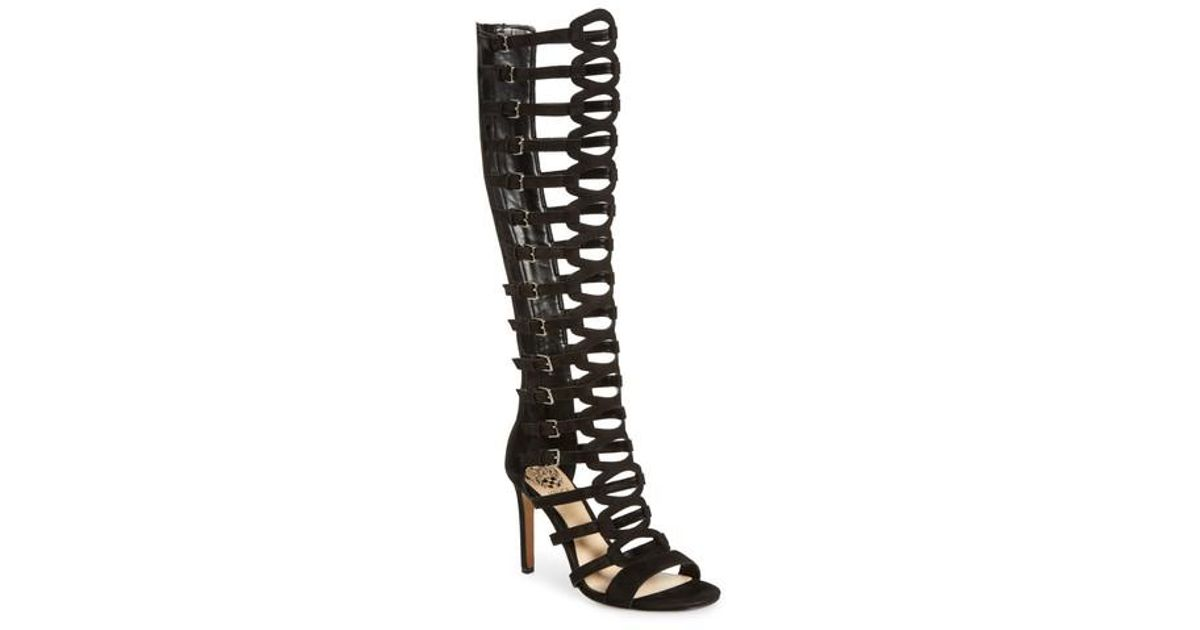 a61c7599a271 Lyst - Vince Camuto Chesta Tall Gladiator Sandal in Black