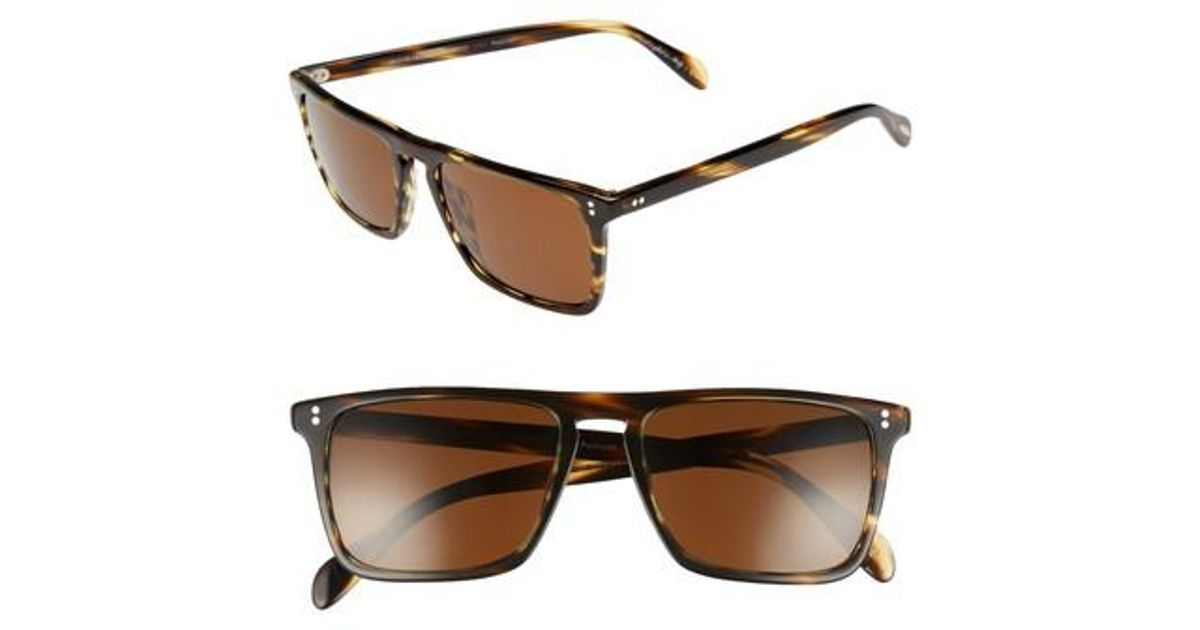 871fe406a12 Lyst - Oliver Peoples Bernardo 54mm Polarized Sunglasses - Cocobolo  Java  in Brown for Men