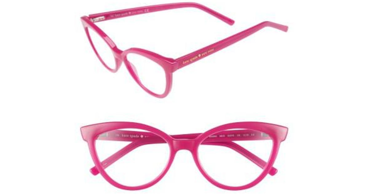 1db6da52c76 Lyst - Kate Spade  danna  52mm Cat Eye Reading Glasses - in Pink