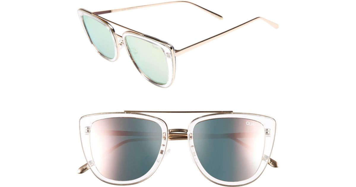 da7f6cb09611f Quay French Kiss 55mm Cat Eye Sunglasses - - Lyst