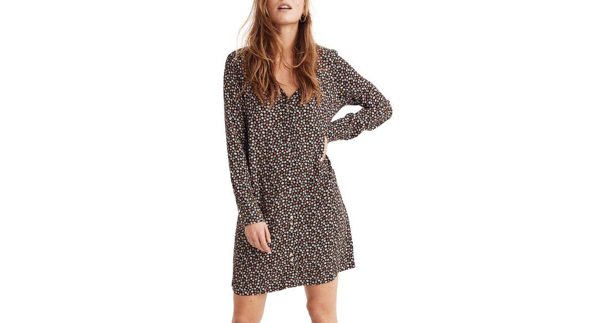 50b813a2c89 Madewell Button Front Mini Dress - Lyst