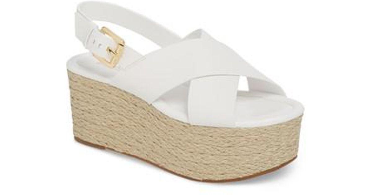 d2e8c0d010f MICHAEL Michael Kors Jodi Platform Sandal in White - Lyst
