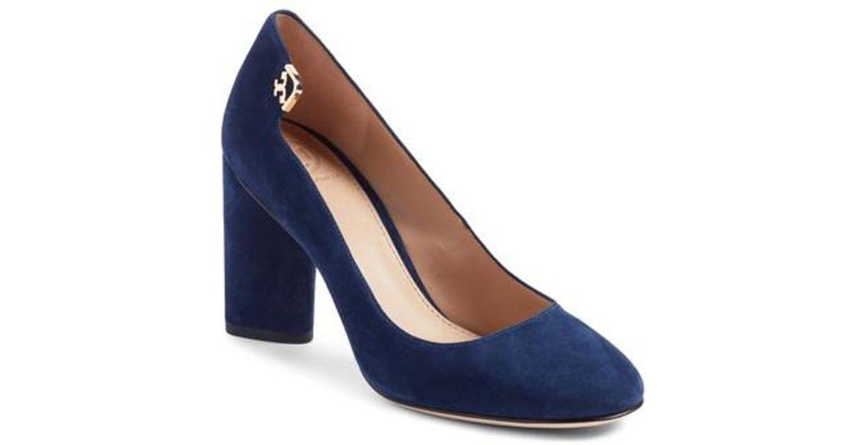 0c6ddbd07 Lyst - Tory Burch Elizabeth Round Toe Pump in Blue