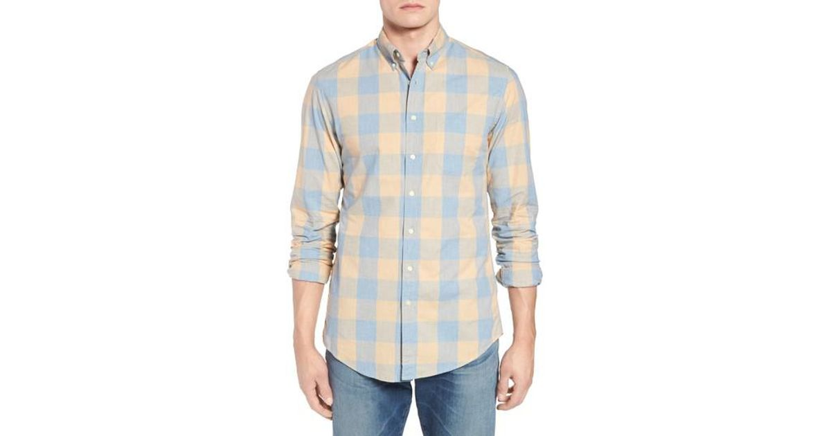 J.Crew Regular Fit Stretch Secret Wash Check Sport Shirt