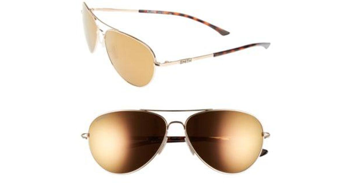 ae42bcd17f Lyst - Smith  audible - Chromapop  60mm Polarized Aviator Sunglasses -