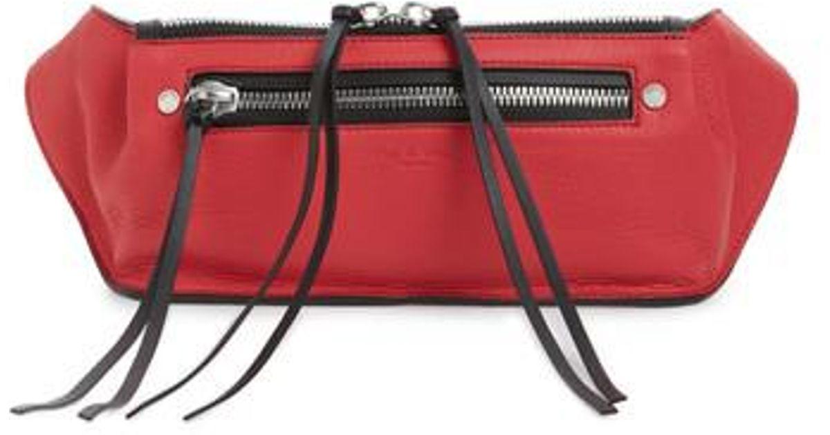 e487087d4991 Lyst - Rag   Bone Large Ellis Leather Belt Bag in Red