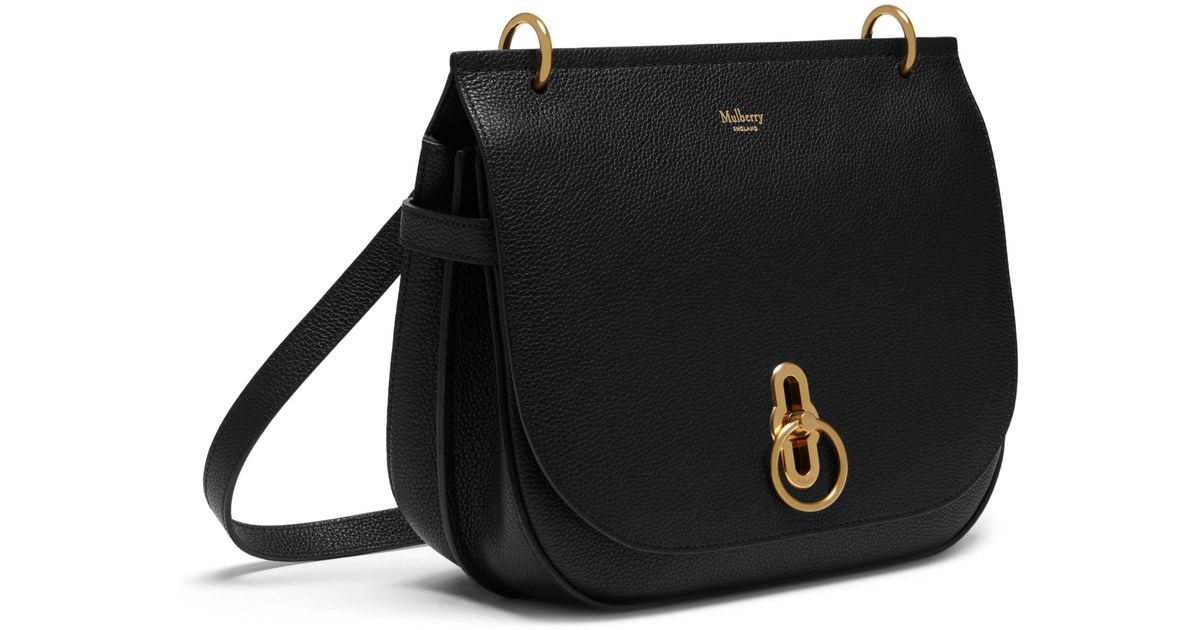 15d06ed4343 Lyst - Mulberry Amberley Leather Crossbody Bag in Black